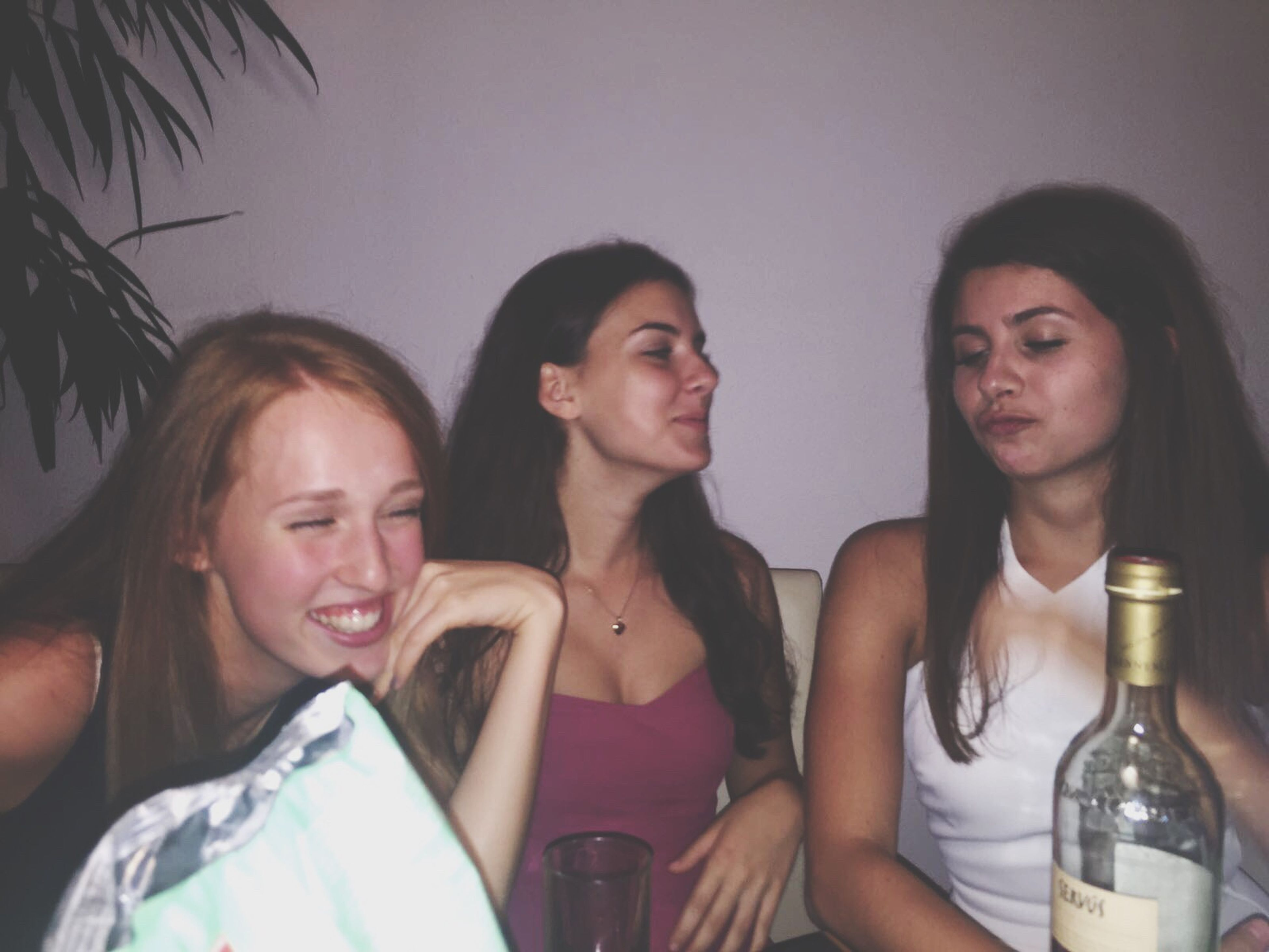 togetherness, young adult, young women, leisure activity, lifestyles, friendship, headshot, long hair, person, looking at camera, casual clothing, enjoyment, friends, weekend activities, focus on foreground