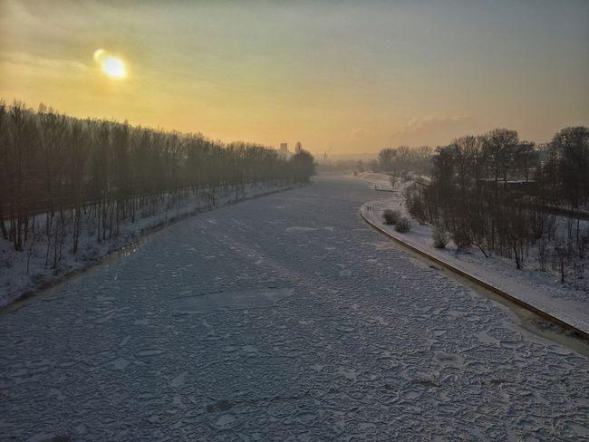 Frozen after 7 years It's Cold Outside Vilnius Lithuania Neris River Neris Frozen River Winter Ice Snow Frozen Zirmunai