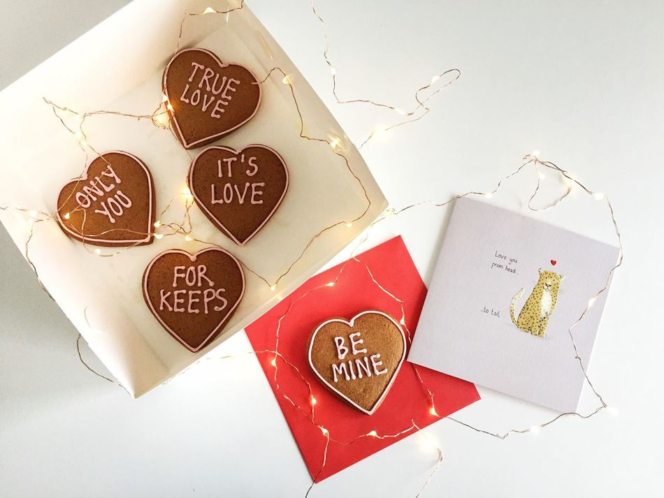 Love cookies from someone special Be Mine Cookies Flat Lay Flatlay Heart Shape Love Minimalism Minimalist On The Table Romantic Valentine's Day  White Addict White Background WhiteCollection