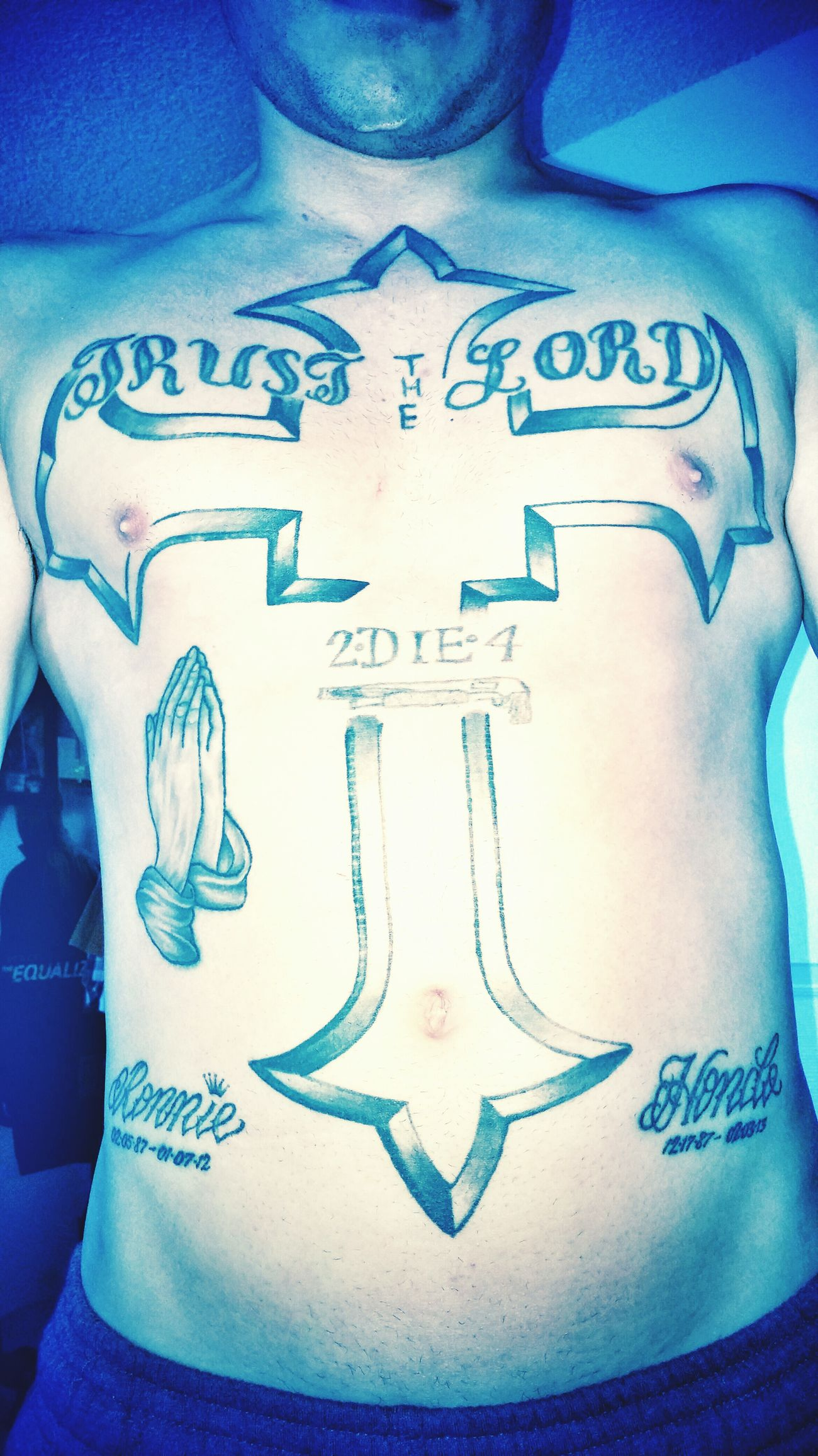My Art Tattoo Prayinghands Trust The Lord