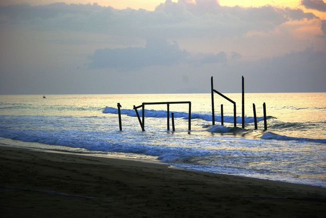 Espiral Aguada Puerto Rico Boat Dock Old Structures Sunset Beach