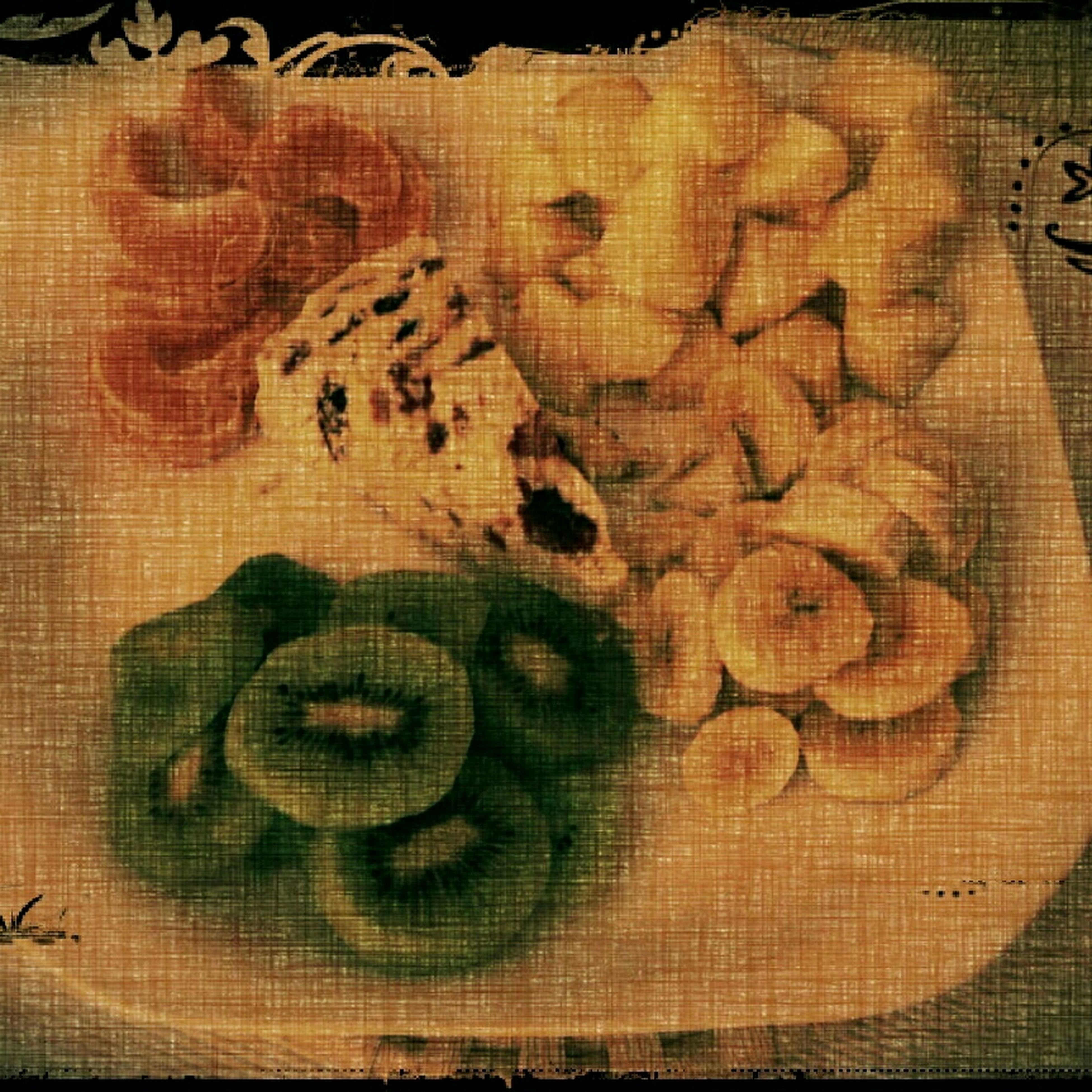 indoors, still life, close-up, high angle view, creativity, art and craft, art, pattern, full frame, table, textured, no people, design, backgrounds, textile, fabric, floral pattern, directly above, food and drink, animal representation