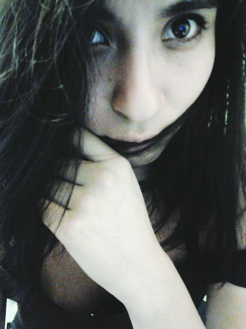 long time no see That's Me Enjoying Life Hello World Black Lunares Latina Eyeliner Lower Lashes