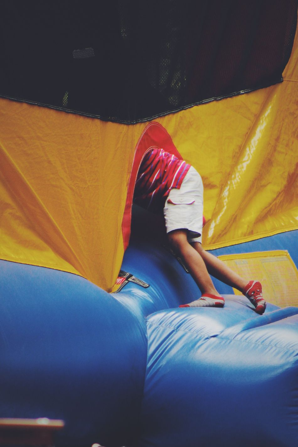 Playful Kid Playing Bouncy Castle Bouncy Bouncycastle Bouncyhouse Playful Outdoors Outdoor Photography Kids Being Kids Playtime Daycare