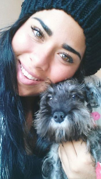 Good Morning World My Dogs Are Cooler Than Your Kids Schnauzer Shesmine Latinas Mexicangirls  Faces Of EyeEm lya bebe💜💛💚🐾