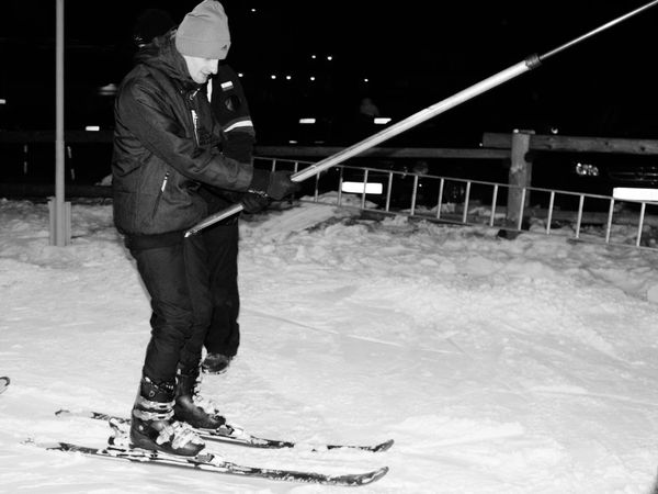 Sport Night Lifestyles Young Adult Adult City Leisure Activity One Person One Man Only Taking A Shot - Sport Skynightphotography Skiing ❄ It's So Cold . ⛷ Zakopane, Poland