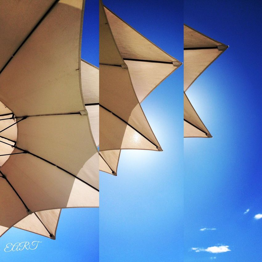 Blue Day No People Terasse EyeEmNewHere Sun Beauty In Nature Architecture Close-up Parasol