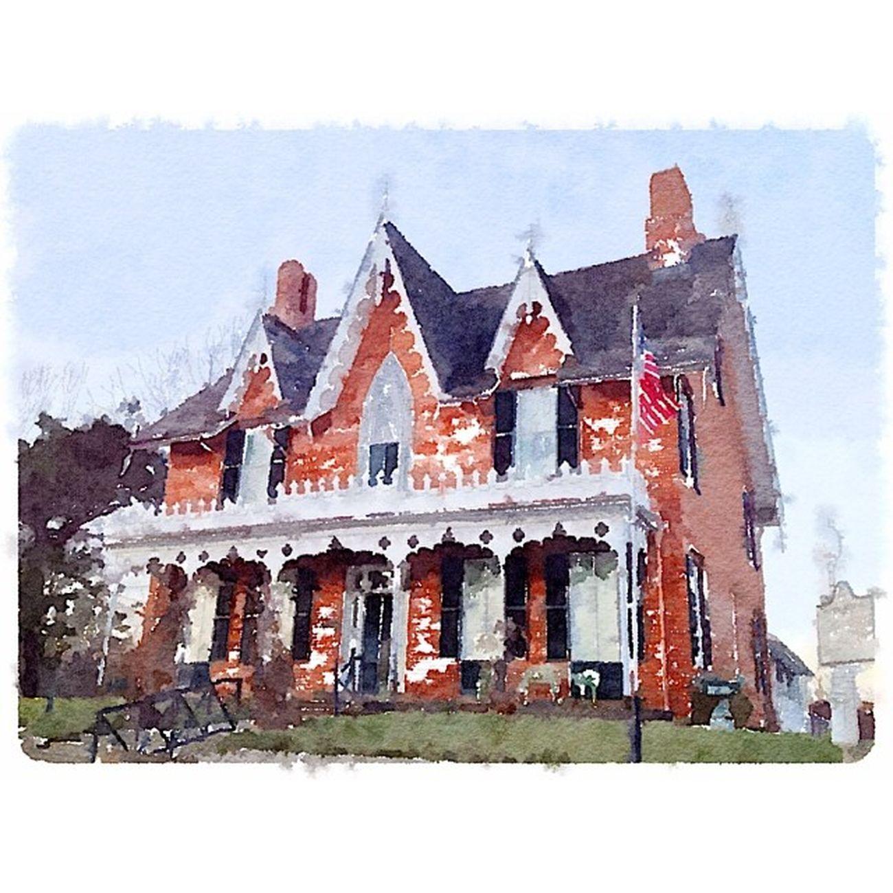Gothic Pastel Cottage Watercolor CF Waterlogue
