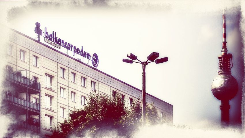 Vintage Signs Fernsehturm Berlin  Berliner Ansichten Soviet Ghost Streetphoto_color Ostalgie