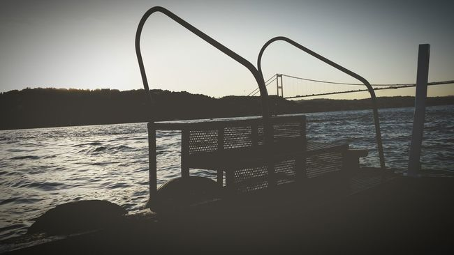 Infinity Bosphorus Eyeemist Bridge Endofday Check In Feel The Moment Whiteandblack Vintage