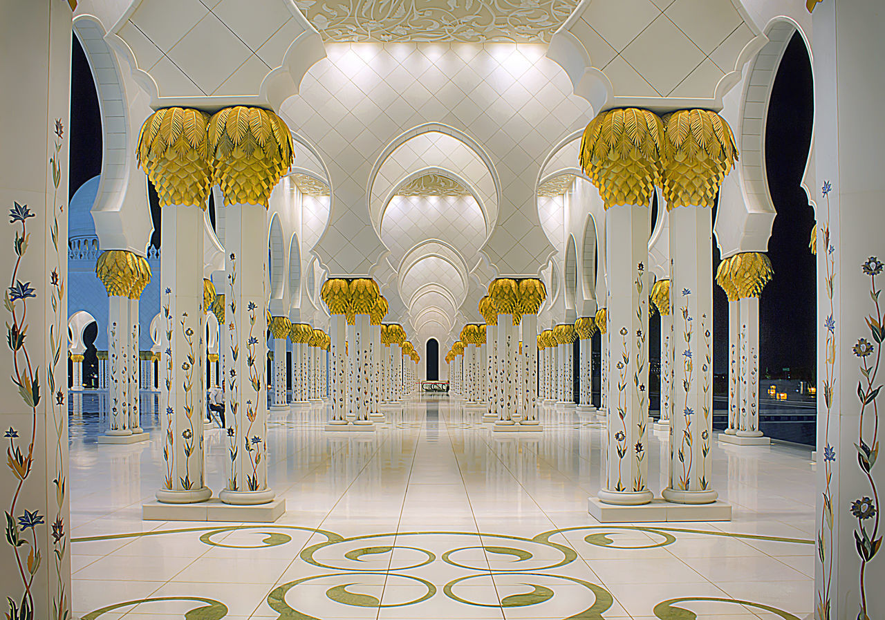 Sheikh Zayed Mosque Abudhabi Architecture Backgrounds Design Islamic Architecture Lights Mosque Muslims Relegion