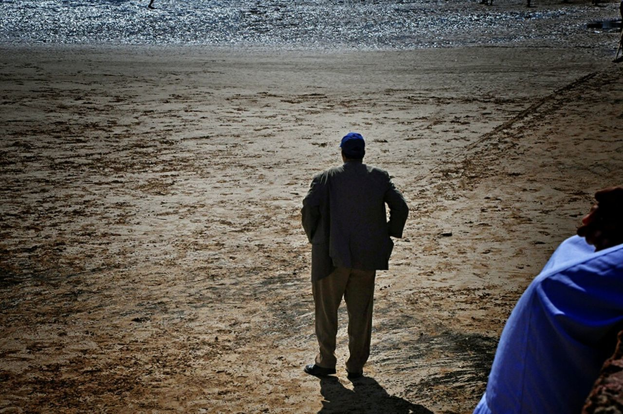 Football Fever Football Coach  Head Coach Enjoying Life Improvised Football Pitch On The Beach Football Coach Observing Football Is Here Footballislife Localscene From Where I Stand Local Culture From My Point Of View Football Game Football Time  By The Sea On The Sand Football Field - Essaouira Morocco