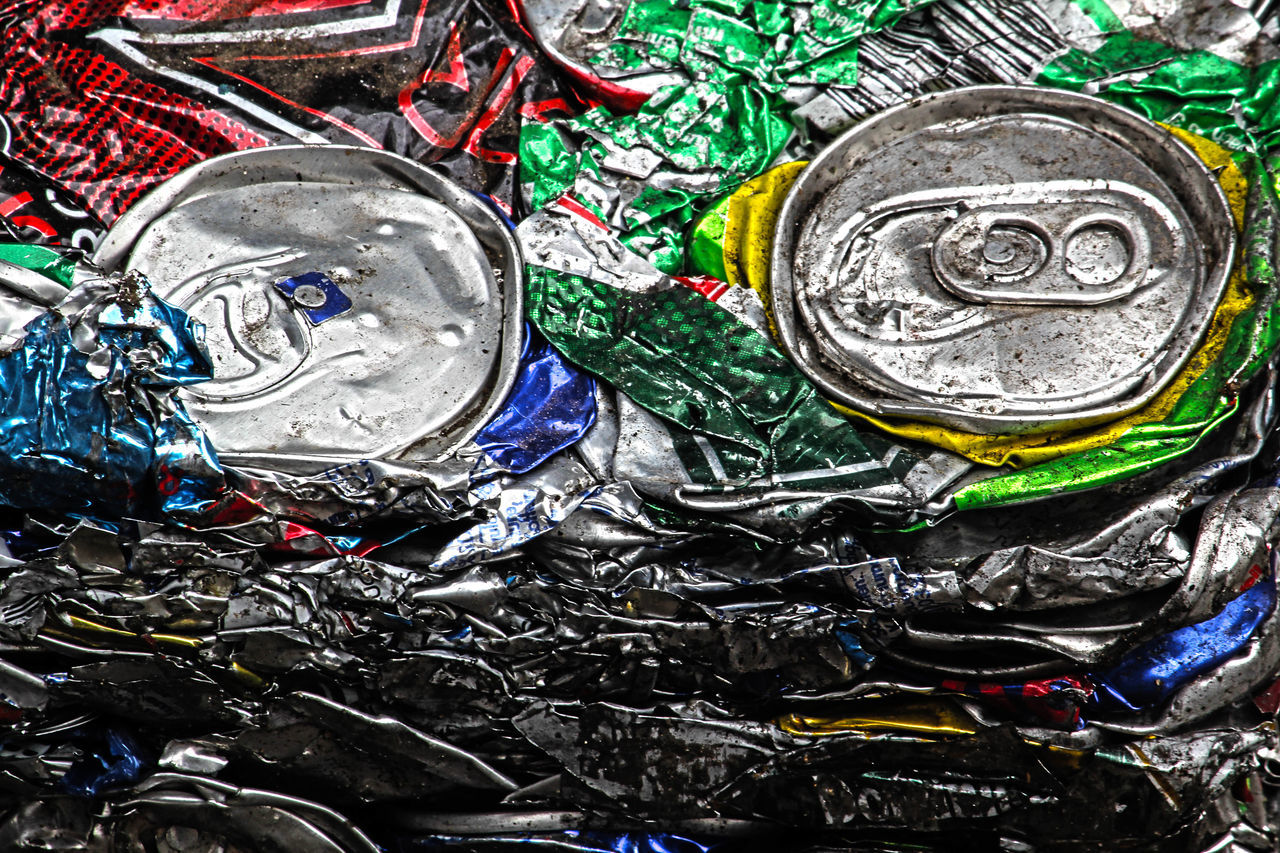 Aluminium Close-up Metal Metal Rcycling No People Recycling Rubbish