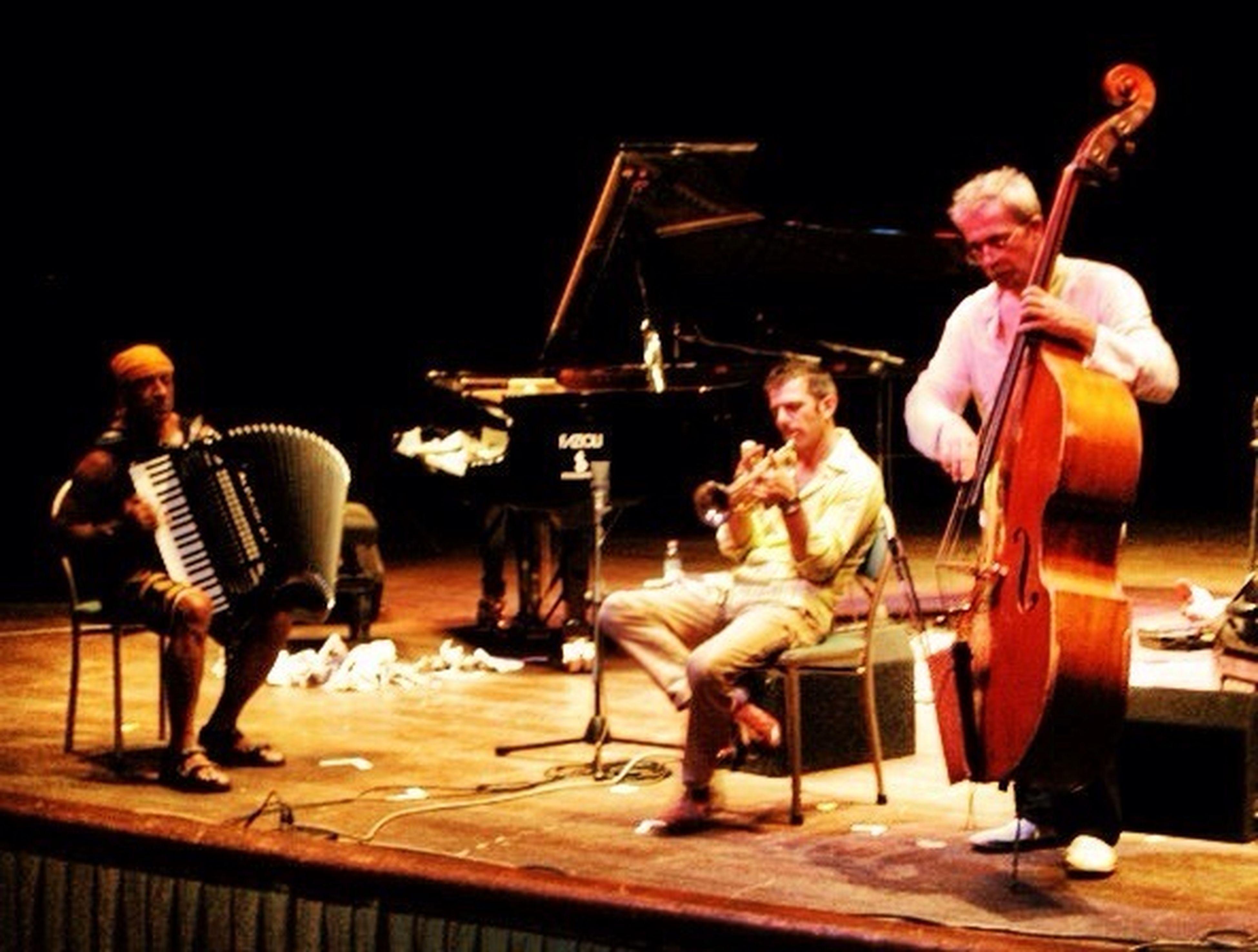 Paolo Fresu trumpet, Furio Di Castri DB, Antonello Salis accordion