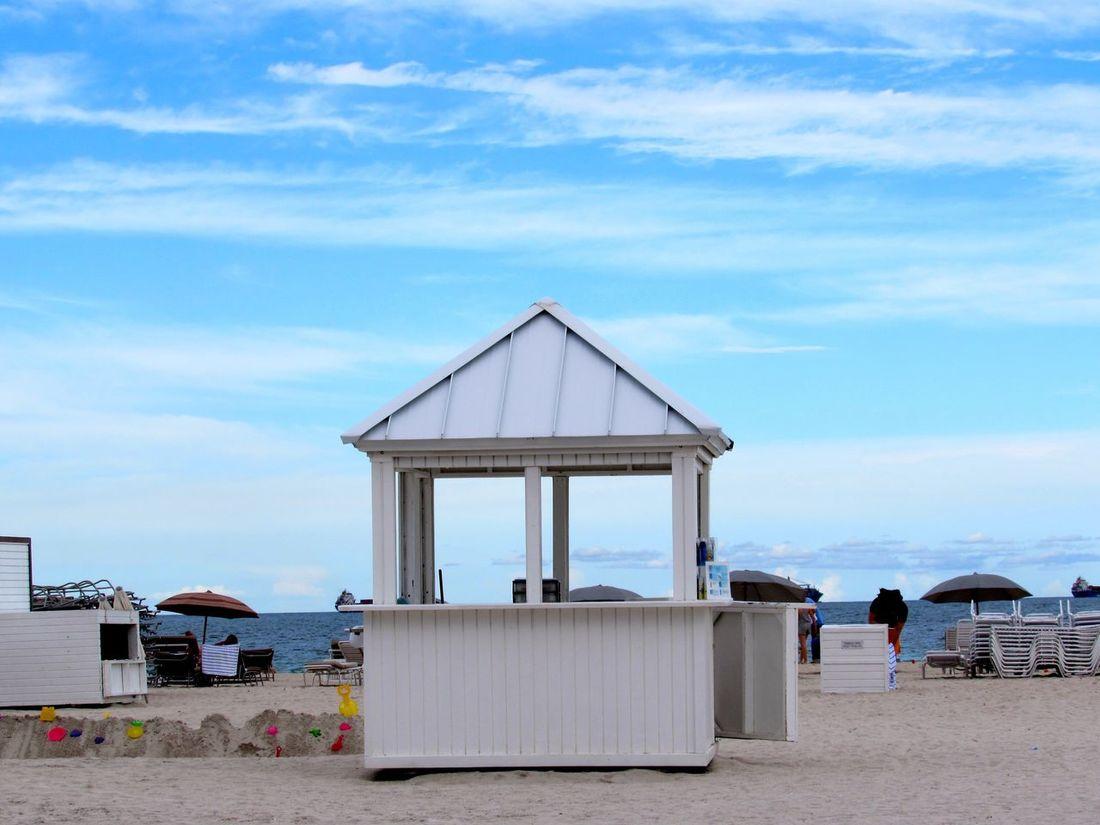 Sky Clouds Clouds And Sky Blue Sea Seaside Beach Beach Life Beachphotography Sand Sand & Sea Sandy Beach Day Out Kiosk White Symetric Colors Background