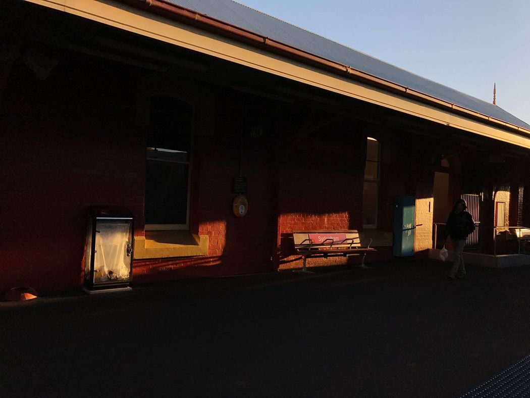 Autumn Light is Magical Light | Train Station Sydney Morning Photo Daily Commute