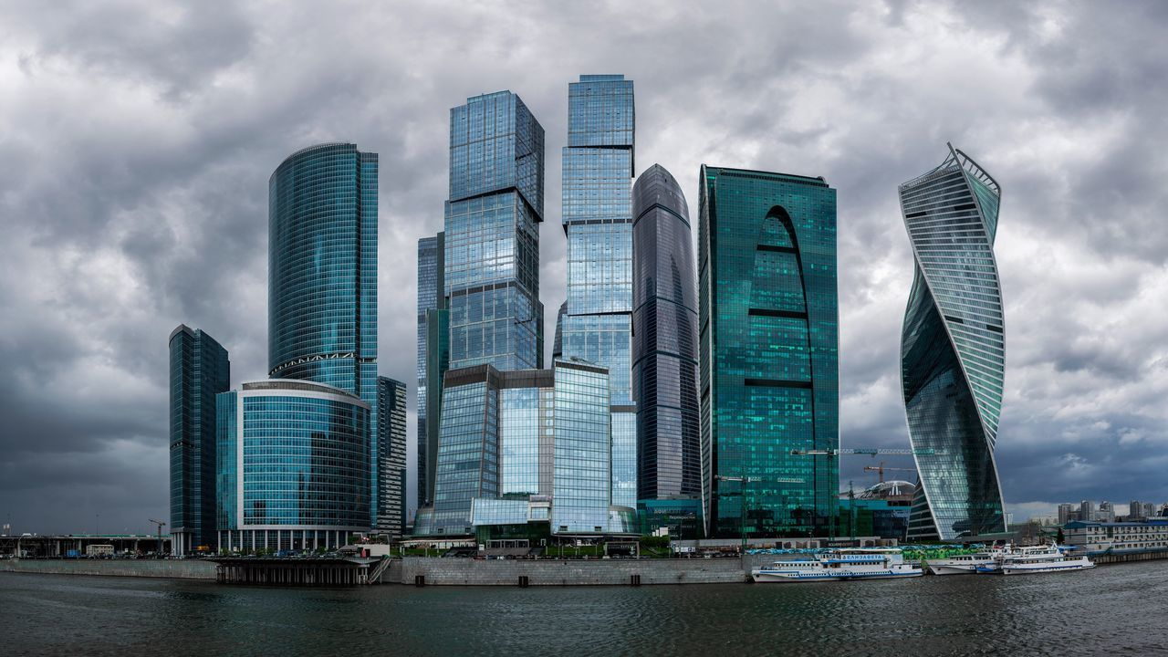 Architecture Skyscraper Modern Sky Building Exterior Built Structure Cloud - Sky City Tower Urban Skyline Downtown District Water Development Outdoors Cityscape No People Travel Destinations Day Business Storm Cloud Москва Moscow