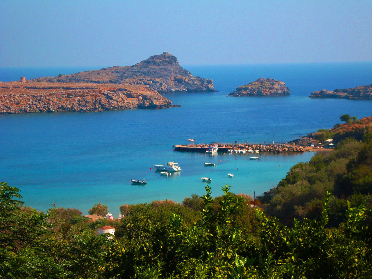 Photography Landscape Landscape_photography Admiring The View Landscape_photography Love Nature Photography Taking Photos Tranquil Scene Beauty In Nature Scenics Seascape Lindos Greece Saint Paul Lindos Panoramic View Beachscape Seascape Naturelover Sea And Sky
