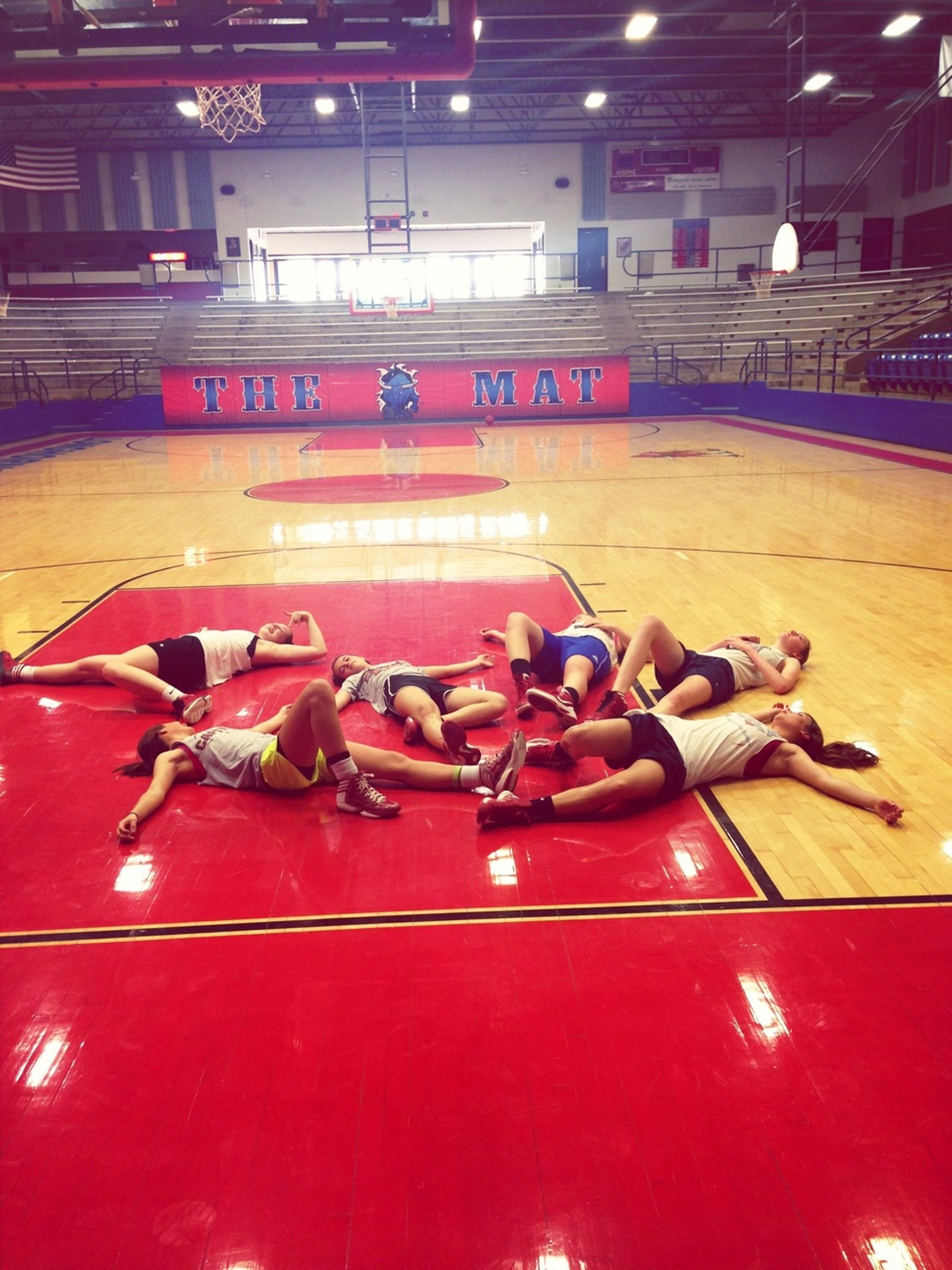 Practice with no air conditioning= dead.