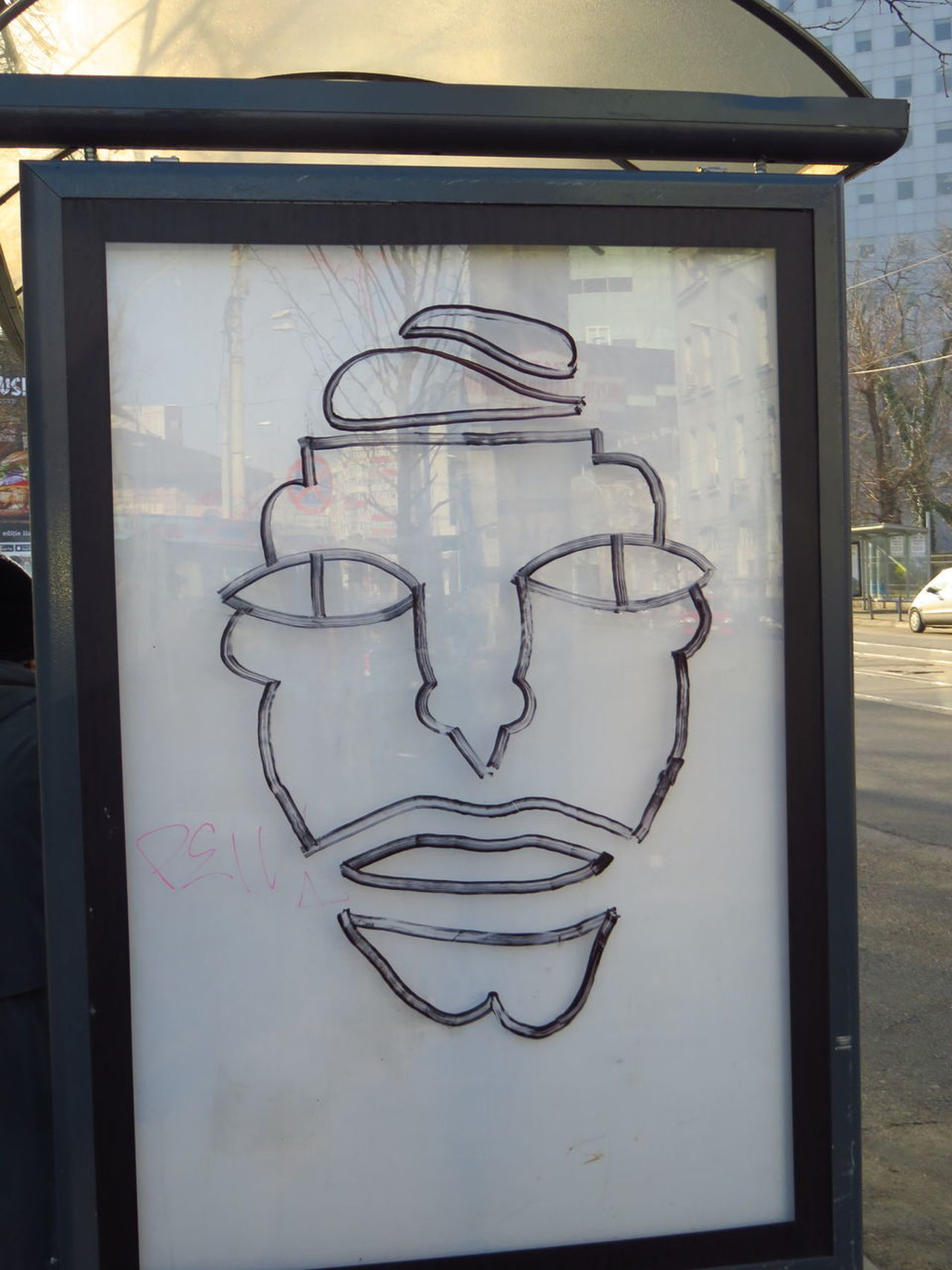 City Close-up Day Drawing Full Frame Graffiti Human Face No People Reflection Schetch