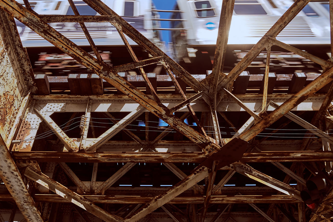 architecture, built structure, no people, low angle view, outdoors, day, girder, construction frame, close-up, building exterior, sky