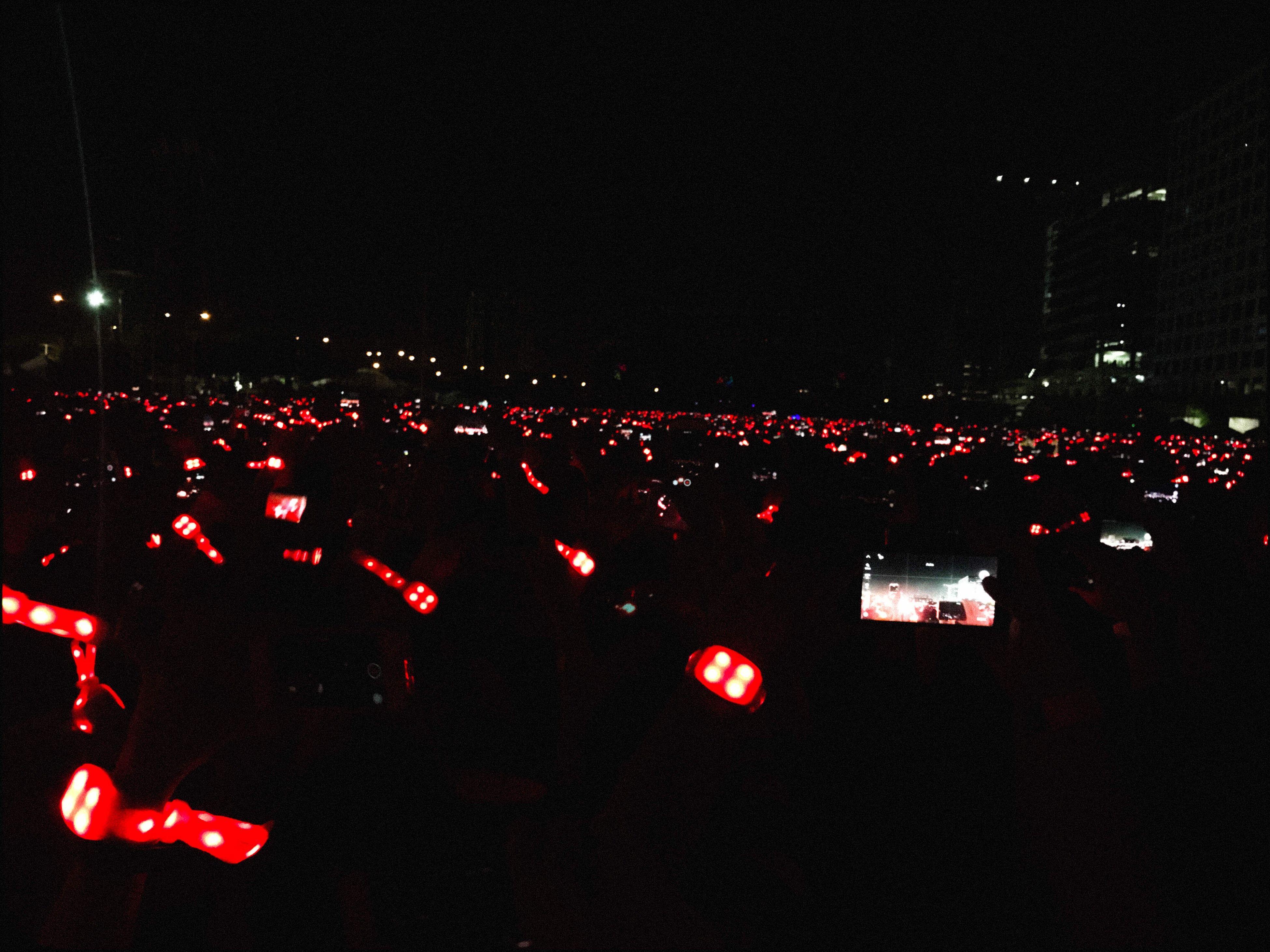 mode of transport, night, illuminated, transportation, red, sky, outdoors, no people