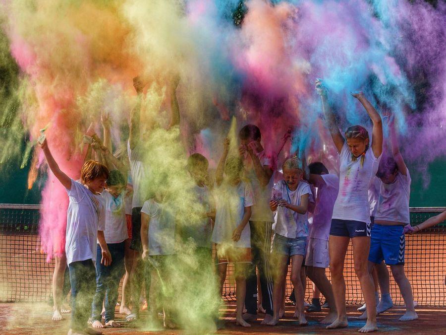 holi-day-fun 😉 Holi Ferienspaß Holiday Colors Kids Tenniskids Fun Centercourt Tennis 🎾 Camp Germany Holidays Color Of Life Color Palette