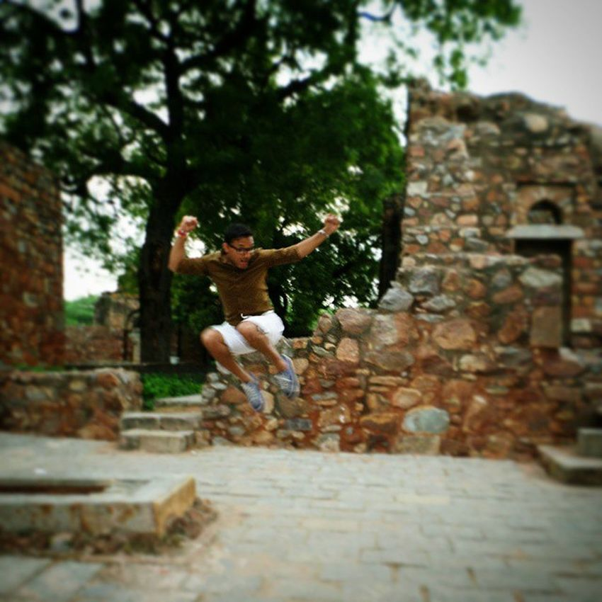"""""""Jump and you will find out how to unfold your wings as you fall."""" Shenanigans Motherland Hauzkhasfort Madrasa Delhi India picoftheday vscocam"""