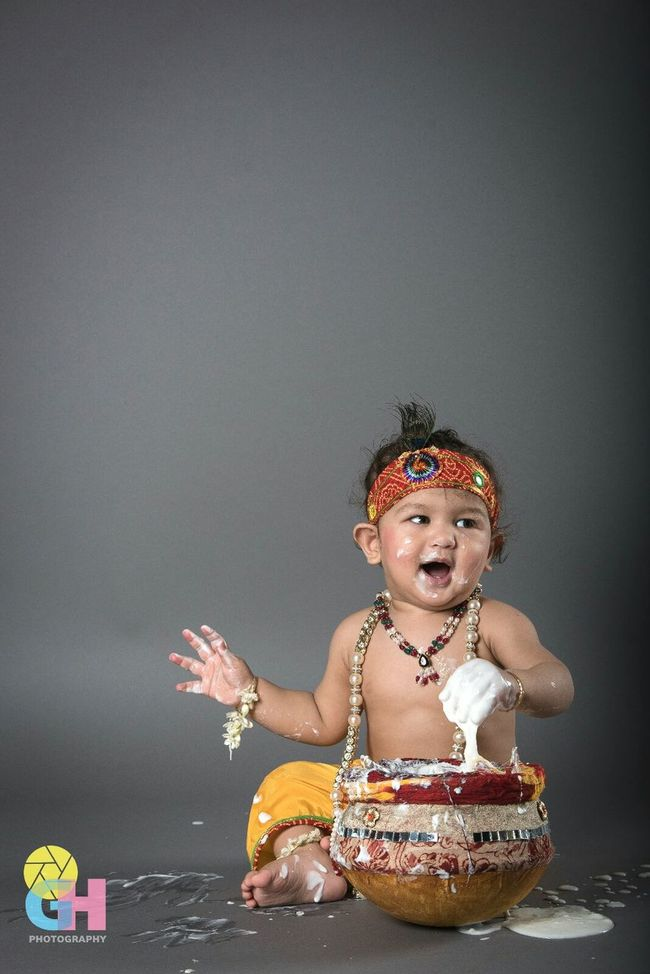 Little Krishna Beautiful Baby Boy Krishna Makhanchor Janmashtami