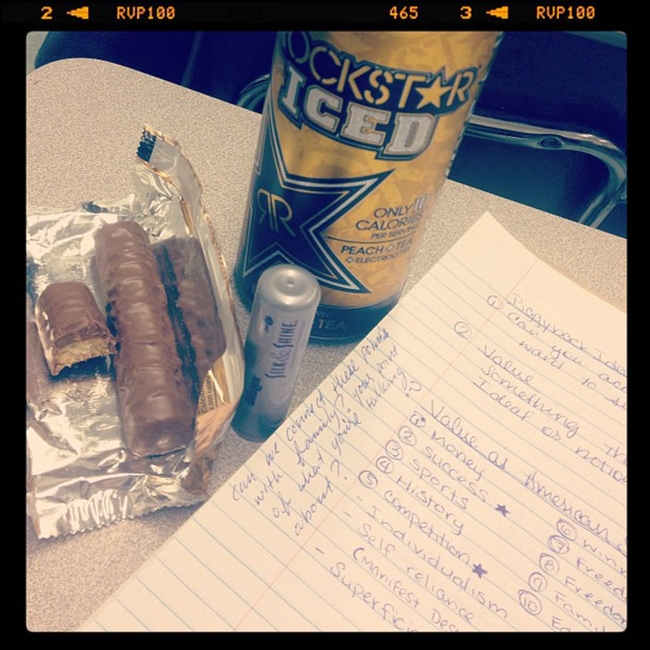 Student Twix Rockstar Blistex Notes Csun ImBored SpeechClass FaveChocolate CaffeineAddict