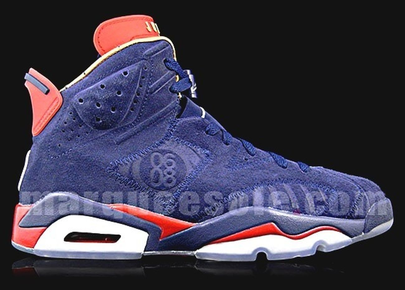 Air Jordan 6 (VI) – 2009 Doernbecher – Navy / Red – Gold
