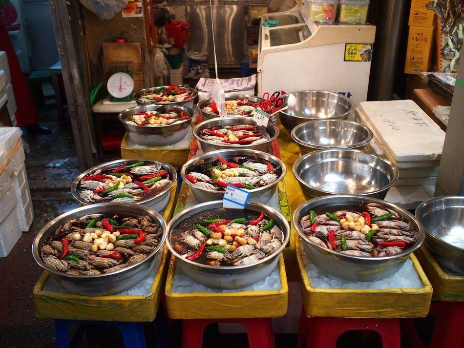 Market Crab Pot Taking Photos Food Foodporn Food Porn Foodphotography South Korea Korea Korean Food Going To Market
