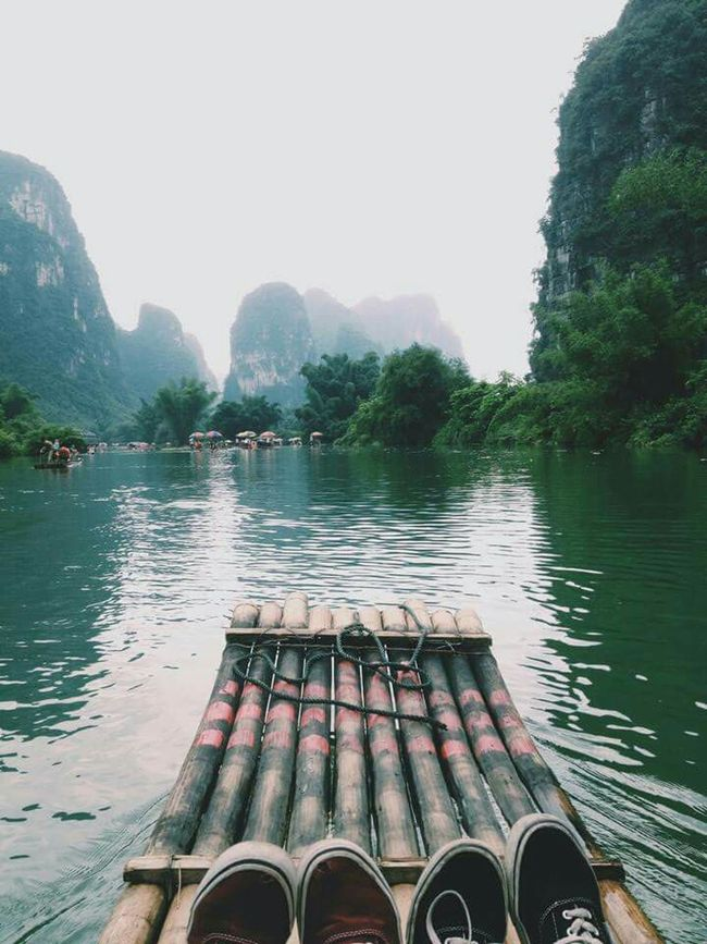 Travel Travel Photography Travelling Yangshuo Yulong River Yulong Yulongriver Yulonghe Guilin China River Raft From My Point Of View Mypointofview Traveling In China First Eyeem Photo