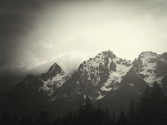 mountains at Grand Teton National Park by Maya