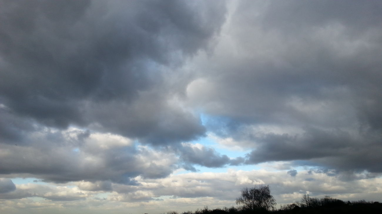 Clouds Sky Epsom Downs Outside From My Point Of View