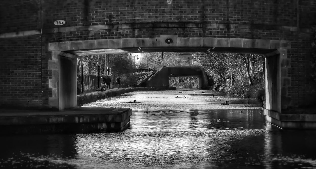 This was taken along the Manchester Rochdale canal Water Built Structure Architecture No People Black And White Collection  Architecture Details EyeEm Masterclass Landscape_photography Building Photography Creative Light And Shadow Black And White Portrait Black And White Photography Architecture Photography Monochrome Photography History Architecture Portrait Photography Canals And Waterways UK Canals Tunnel Series Urban Photography