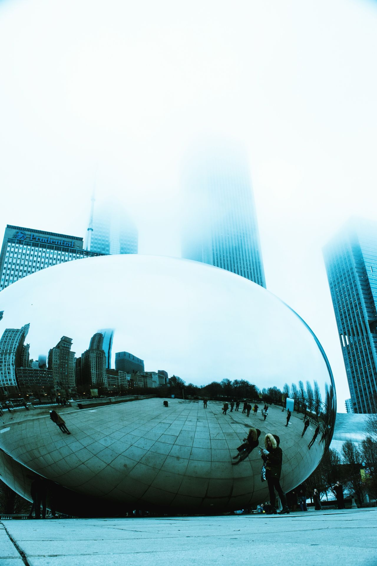 Architecture Built Structure Building Exterior City Modern Travel Destinations Cloud - Sky Cityscape Urban Skyline From My Point Of View Cityscape Scenics Low Angle View Sculpture Cloud Chicago Architecture Chicago Futuristic Modern Architecture City City Life