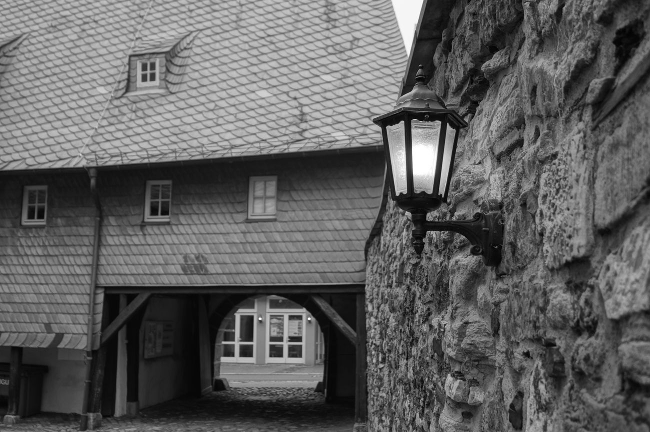 Architecture Blackandwhite Blackandwhite Photography Building Exterior Built Structure Goslar Laterne Goslar