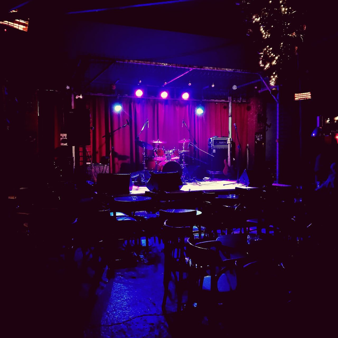 Concert. Reflection Blue Bar - Drink Establishment Indoors  Nightlife Illuminated No People Alcohol