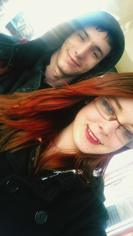 I love my boyfriend to the end of the universe's universe 💕❤💋💏💑 My Queen Her King His Queen Queen My King King Realtionship Relationshipgoals Girlfriend Boyfriend Taking Photos Smiling Selfie Peace Love Smile Redhead Coloured Hair Colour Red Hair Selfies