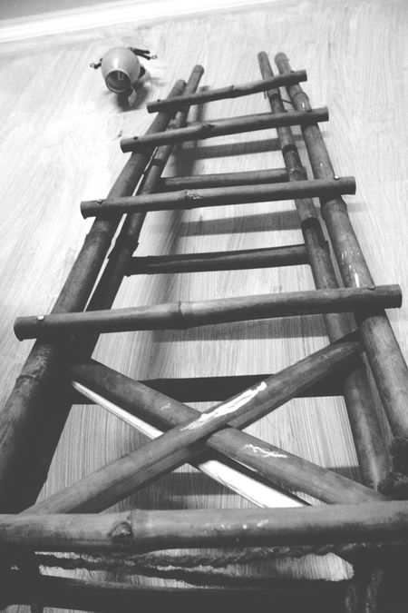 Blackandwhite Photography Common Objects Check This Out Blackandwhite Wall Painting Climb Up! Ladder On The Wall Clicking Photos