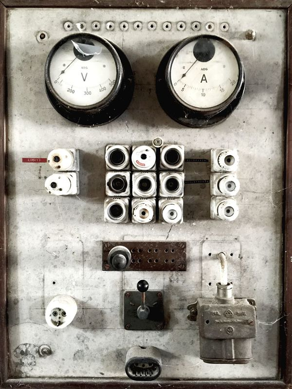 Energy Electricity  Electric Electro Volt Ampere Power Power Supply Circuit Measure Technology Technics Plugs FUSE Voltage Close Up Technology Circuit Board Antique Old Power Station Gridlove