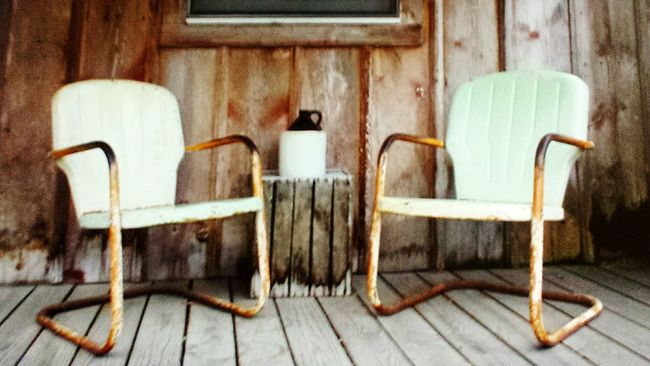 Patio Old Chairs Mint Green Outdoor Photography Authentic Moments Old House No People Old Day Man Made Object Americana Midwestmoment Porch Life EyeEm Best Shots EyeEm Gallery Rustic Style