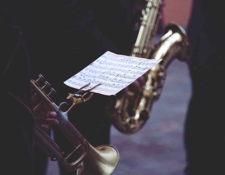 Art Is Everywhere Arts Culture And Entertainment Brass Instrument  Classical Music Close-up Day Focus On Foreground Jazz Music Marching Band Metal Military Parade Music Musical Instrument Musician Outdoors Performance Playing Saxophone Sheet Music Trumpet Wind Instrument Woodwind Instrument