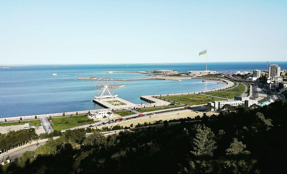 Баку нагорныйпарк виднагородсвысоты май2017