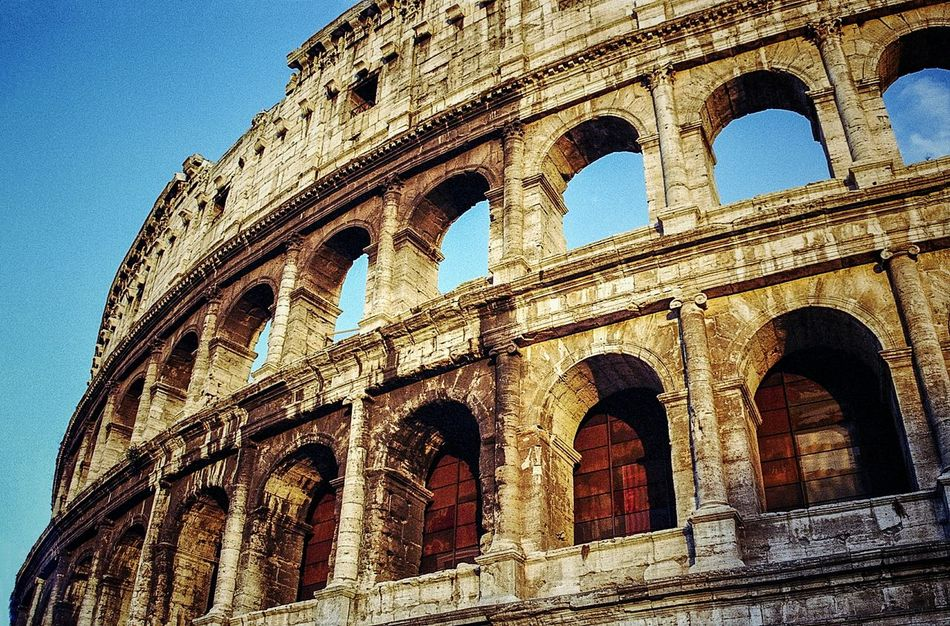 History Architecture Built Structure Building Exterior Ancient No People Arch Clear Sky Low Angle View Colosseum Rome Italy
