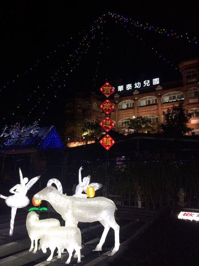 我家附近即可看燈會 No Filter :) Lantern Pretty Asian Culture Check This Out The Year Of Goat Nice Night View