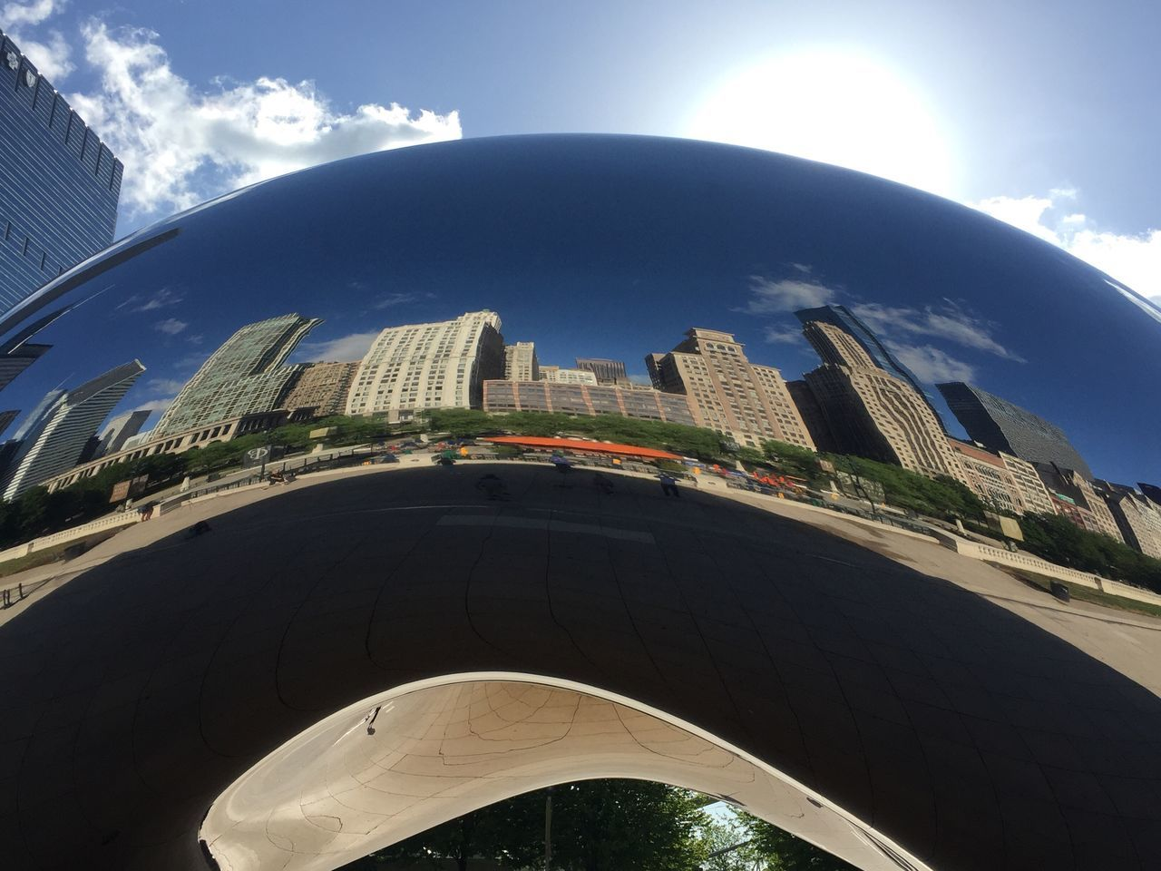 Chicago Cloud Gate Cloud Gate Chicago Reflection Reflections Building Reflections Building Steel Structure  Steel