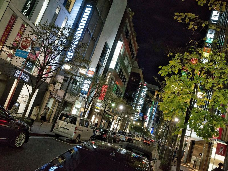 City Life Snapshot City Street Night Streetphotography Drinking On The Road Cityscapes Street Light View City Lights Ginza 銀座 , Tokyo