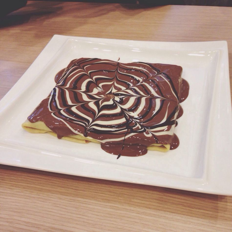 Today's lunch Chocolate Dessert Sunday Noon